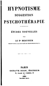 Bernheim, hypnose, psychothérapie, Philippe Coat; cabinet coat, Colmar, Strasbourg